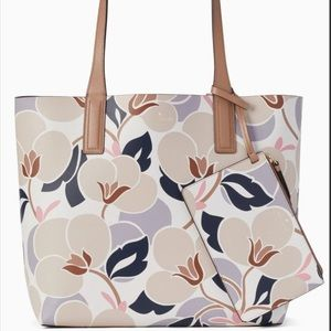 NEW Kate Spade Floral Arch Mya Reversible Tote